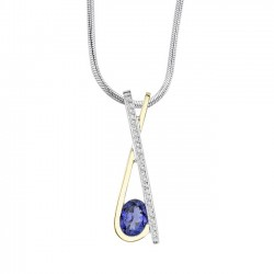 Two Tone Tanzanite Pendant - 6886N