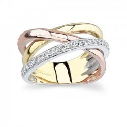 Tri Color Diamond Band - 6950LT