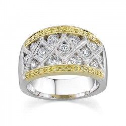 White Gold Diamond Band - 7025LY