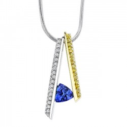 Two Tone Tanzanite Pendant - 7026N