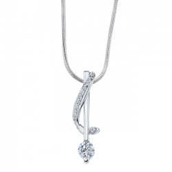 White gold diamond pendant - 7048N