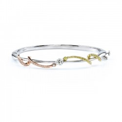Tri Color Diamond Bracelet - 7057B