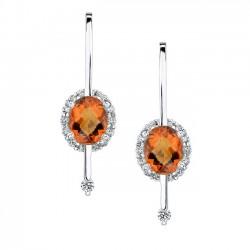 Madeira Citrine Earrings - 7241E
