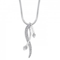 White gold diamond pendant - 7246N