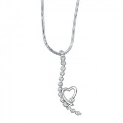 White gold diamond pendant - 7352N