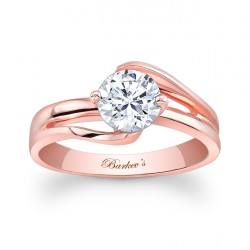 Rose Gold Solitaire Ring - 7378LP