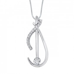 White gold diamond pendant - 7432N