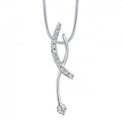 White gold diamond pendant - 7469N