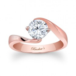 Rose Gold Solitaire Ring - 7499LP