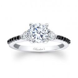 Black Diamond Engagement Ring 7539LBK
