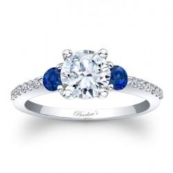 Blue Sapphire Engagement Ring 7539LBSRV