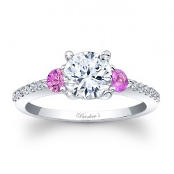 Engagement Ring With Pink Sapphires 7539LPSRV
