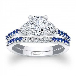 Blue Sapphire Engagement Ring 7539SBS