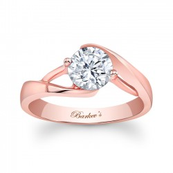 Rose Gold Solitaire Ring - 7543LP