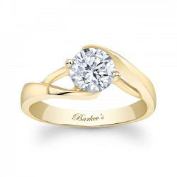 Yellow Gold Solitaire Ring - 7543LY