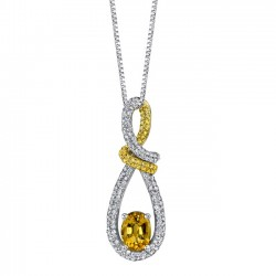 Yellow sapphire pendant - 7587N