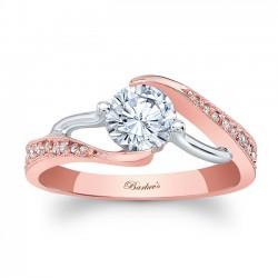 Rose Gold Engagement RIng 7605LTP
