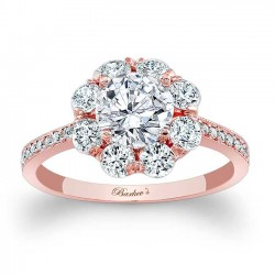 Rose Gold Engagement Ring 7661LP