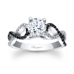 Black Diamond Engagement Ring - 7714LBK