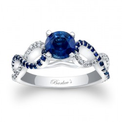 Blue Sapphire Engagement Ring BC-7714LBS