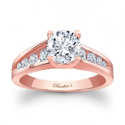 Rose Gold Engagement Ring - 7789LP
