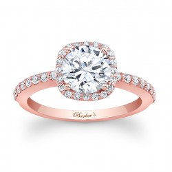 Rose Gold Engagement Ring - 7838LP