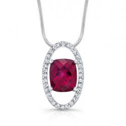 Pink Tourmaline Diamond Pendant - 7890N