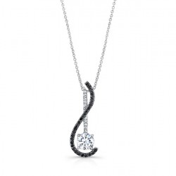 Black diamond pendant - 7902NBK