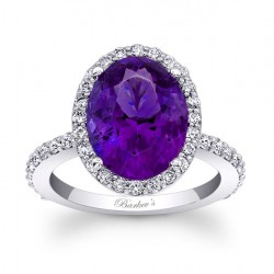 Amethyst Halo Ring - 7905LAMT