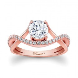 Rose Gold Engagement Ring - 7913LP