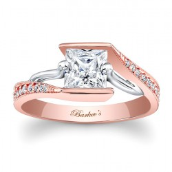 Rose Gold Engagement Ring - 7924LT