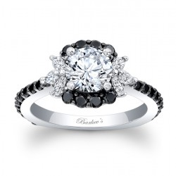 Black Diamond Engagement Ring 7930LBK
