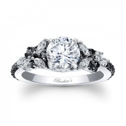 Black Diamond Engagement Ring 7932LBK