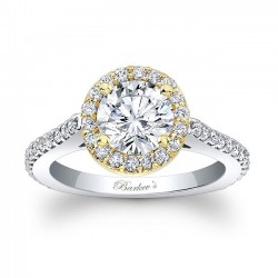 Two Tone Halo Engagement Ring 7933LTY