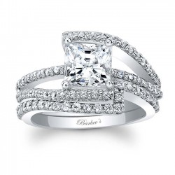 Classic White Gold Princess Cut Bridal Set 7935S