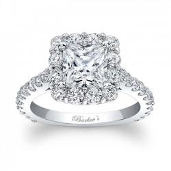 Princess Cut Halo Engagement Ring 7939L