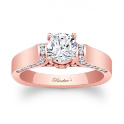 Rose Gold Engagement Ring 7942LP