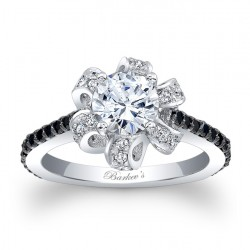 Black Diamond Engagement Ring 7958LBK