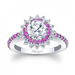 Pink Sapphire Engagement Ring 7969LPS