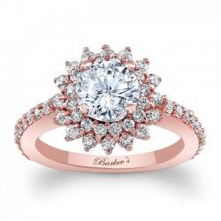 Rose Gold Halo Engagement Ring 7969LP