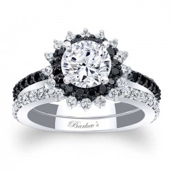 Black Diamond Halo Bridal Set 7969SBK