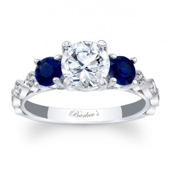Blue Sapphire Engagement Ring 7973LBS