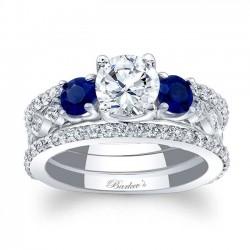 Blue Sapphire Bridal Set 7973SBS