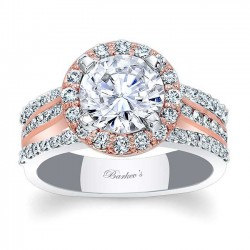Two Tone Halo Engagement Ring 7974LT