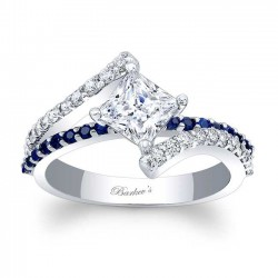 blue sapphire engagement ring 7976lbs - Sapphire Wedding Rings