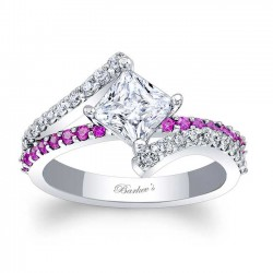 Pink Sapphire Engagement Ring 7976LPS