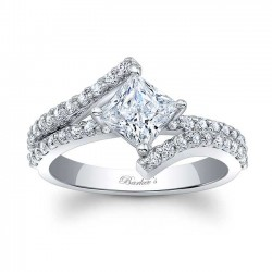 Barkev's Princess Cut Engagement Ring 7976L