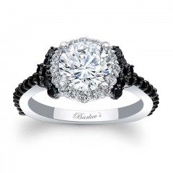 Black Diamond Engagement Ring 7979LBK