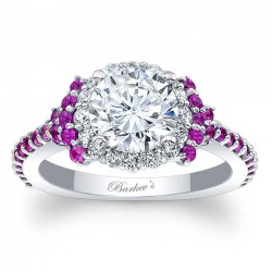 Pink Sapphire Engagement Ring 7979LPS