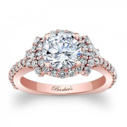 Rose Gold Halo Engagement Ring 7979LP